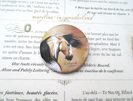 badge broche licorne des sables