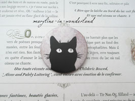 badge broche chat tête