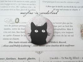 badge broche chat tête