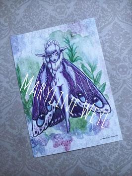 carte postale fée Améthyste