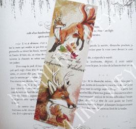 """marque page """"le grimoire des animaux fabuleux-renard"""""""