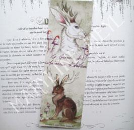 """marque page """"le grimoire des animaux fabuleux-jackalope"""""""