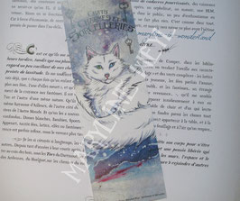 "marque page ""chat des neiges"""
