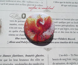badge broche phénix