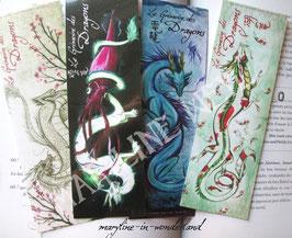 "marque page ""dragon d'Asie"" lot de 4"
