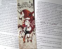 """marque page """"licornes et fée rousse"""""""
