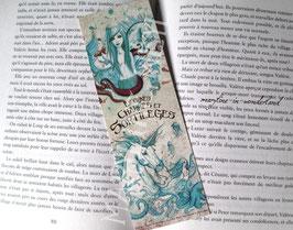 "marque page ""licorne turquoise et sirène"""