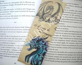 """marque page """"dragon bleu"""""""