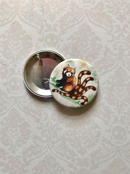 "badge broche renard ""panda roux"""""