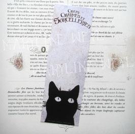 "marque page ""chat noir tête"""