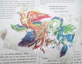 """carte postale """"le grimoire des animaux fabuleux"""""""