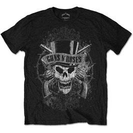 T-shirt Guns N' Roses - Faded Skull