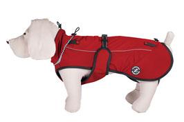 Hundejacke Softshell - MITTLERE Variante, mit Rückenöffnung für Geschirr, Größen M und L