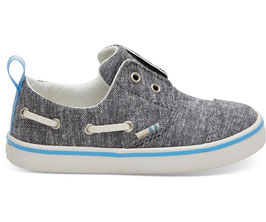 TOMS Black Slub Chambray