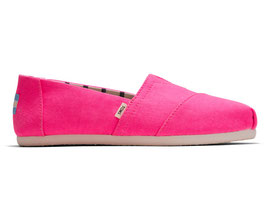 TOMS Neon Pink Canvas woman