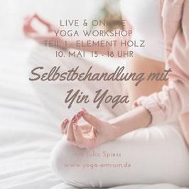 Aufzeichnung des Yin Yoga Workshop - Teil 1