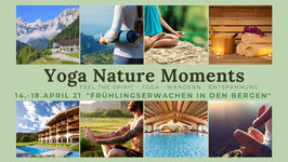 Yoga Nature Moments im Berchtesgadener Land 14 - 18. April 21