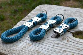 Schlüsselanhänger in Türkis gesprenkelt | Ropes Upcycled
