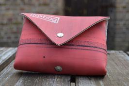 Gassi-Täschchen rot  viereckig | fairbag