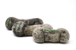 Hundeknochen aus Bio-Wollfilz grau | Herz & Hund