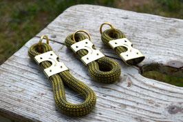 Schlüsselanhänger in Grau-Gelb | Ropes Upcycled
