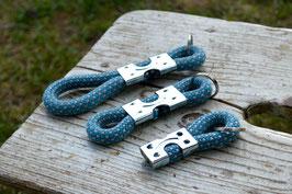 Schlüsselanhänger in Blau-Weiß | Ropes Upcycled
