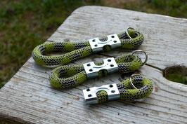 Schlüsselanhänger in Dunkelblau-Grün | Ropes Upcycled
