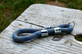 Schlüsselanhänger in Türkis-Blau | Ropes Upcycled