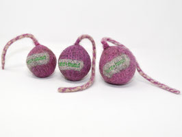 Schleuderball aus Bio-Wollfilz rosa | Herz & Hund