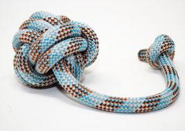 Schleuderball in Blau-Orange-Schwarz | Ropes Upcycled