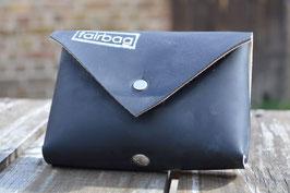 Gassi-Täschchen schwarz viereckig | fairbag