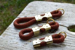 Schlüsselanhänger in Rost-Grau | Ropes Upcycled