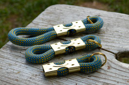 Schlüsselanhänger in Blau-Gelb | Ropes Upcycled