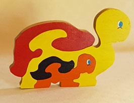 Puzzle Tortue et son bébé (4 pièces)