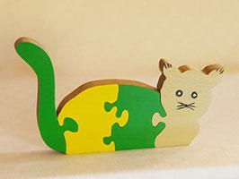Puzzle Chat allongé (4 pièces)