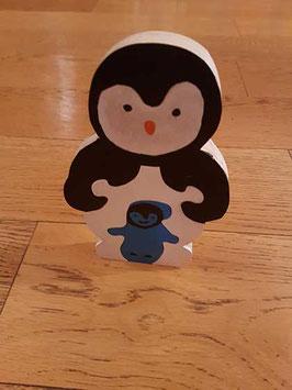 Puzzle pingouin et son bébé (5 pièces)