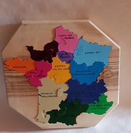 Puzzle Carte de France Nouvelle Région (12 pièces)