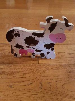 Puzzle vache et son bébé (5 pièces)