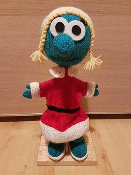 Marionnette Schtroumpfette de Noël