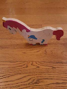 Puzzle licorne et son bébé (4 pièces)