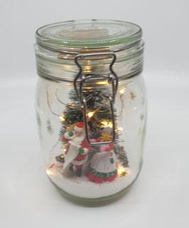 Verrine en verre (thème Noël)