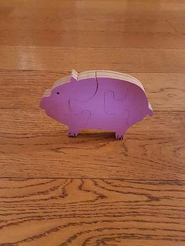 Puzzle cochon (3 pièces)
