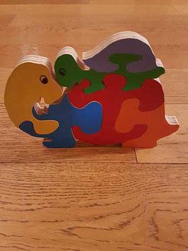 Puzzle tortue et son bébé (6 pièces)