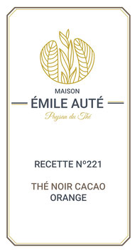 221 Thé noir cacao orange
