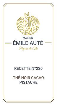 220 Thé noir cacao pistache