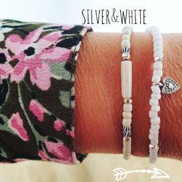 Silver & White (armbandjes)