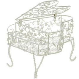 ピアノワイヤー花器