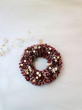 まるでケーキの様なカワイ美しいクリスマスリース
