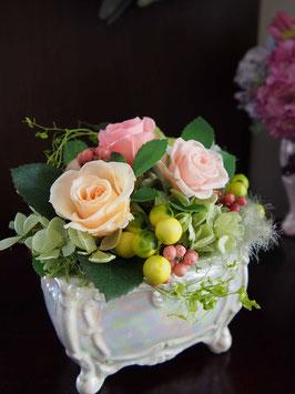 プリザ陶器 お花畑 NO2