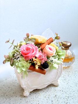 プリザ陶器 お花畑 NO1